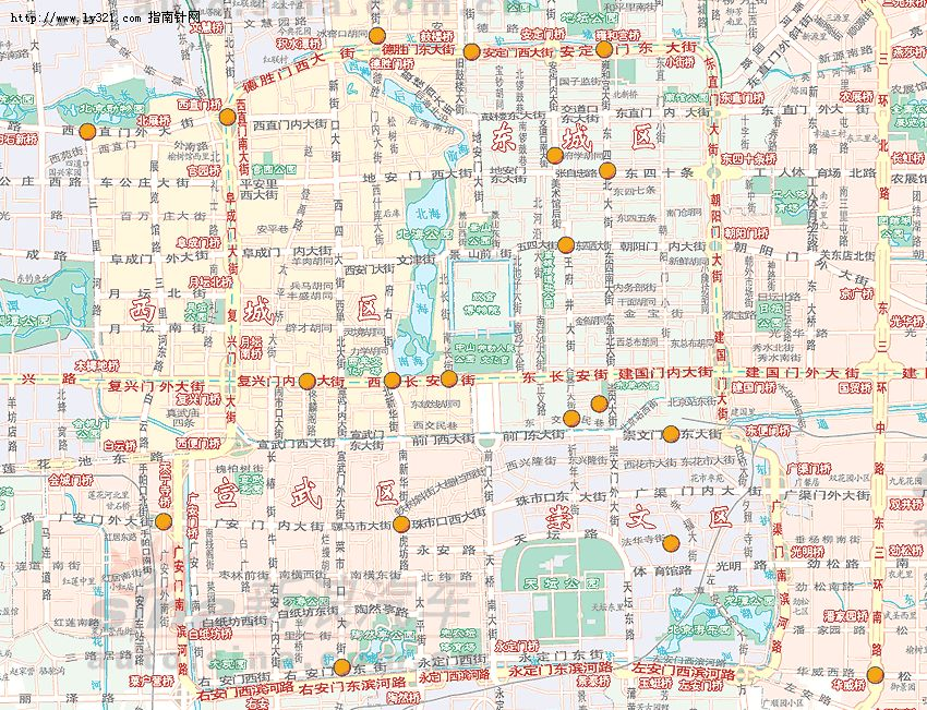 北京市区交通地图_北京地图查询