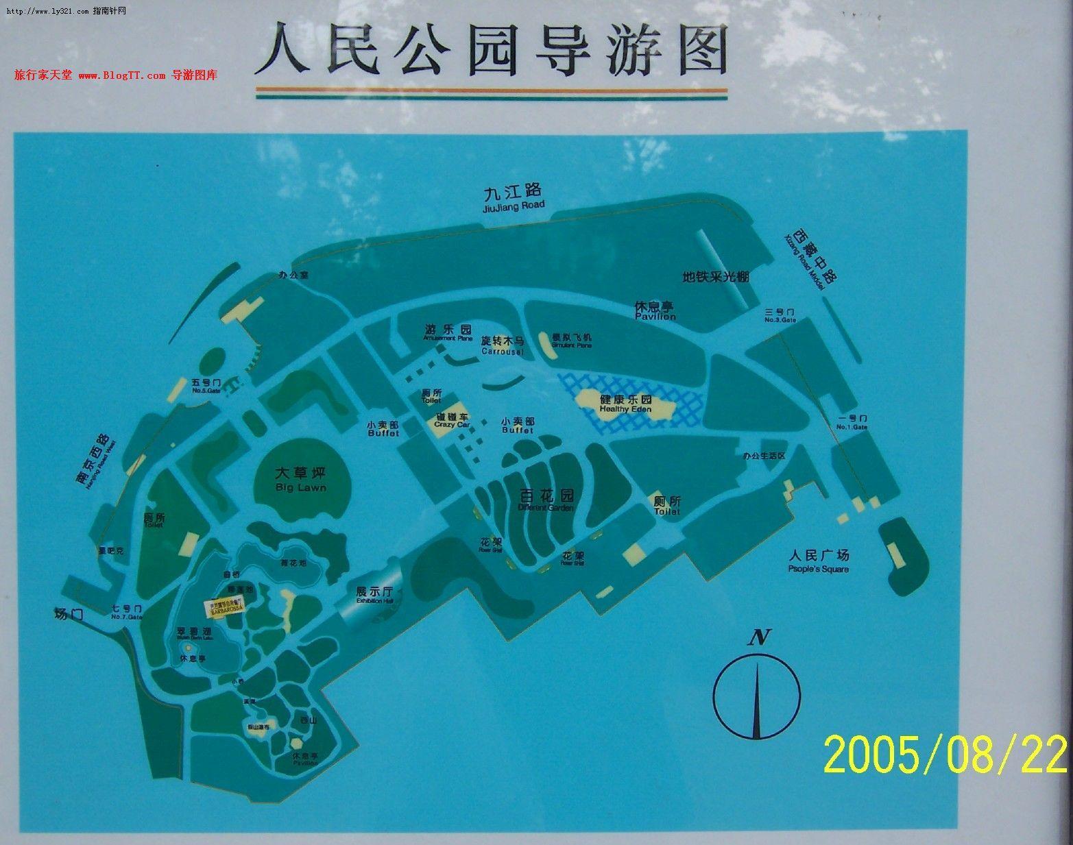上海动物园导游图