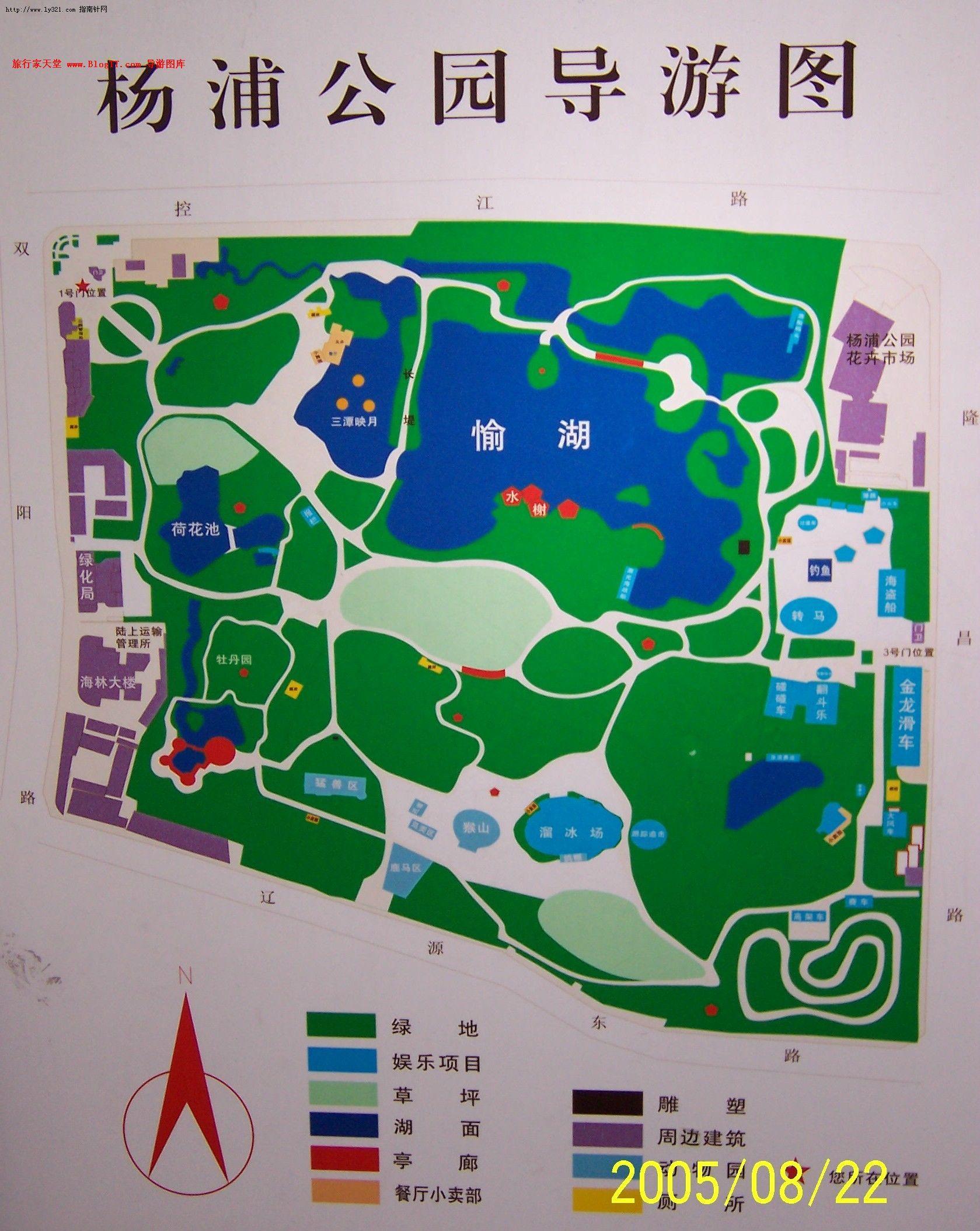 浙江旅游景点大全_上海杨浦公园导游地图_上海旅游地图库_地图窝