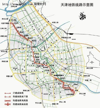 天津地铁线路示意图图片