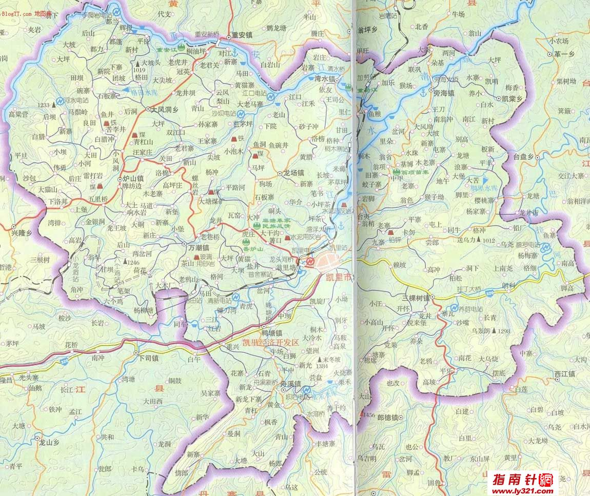 贵州凯里市地图