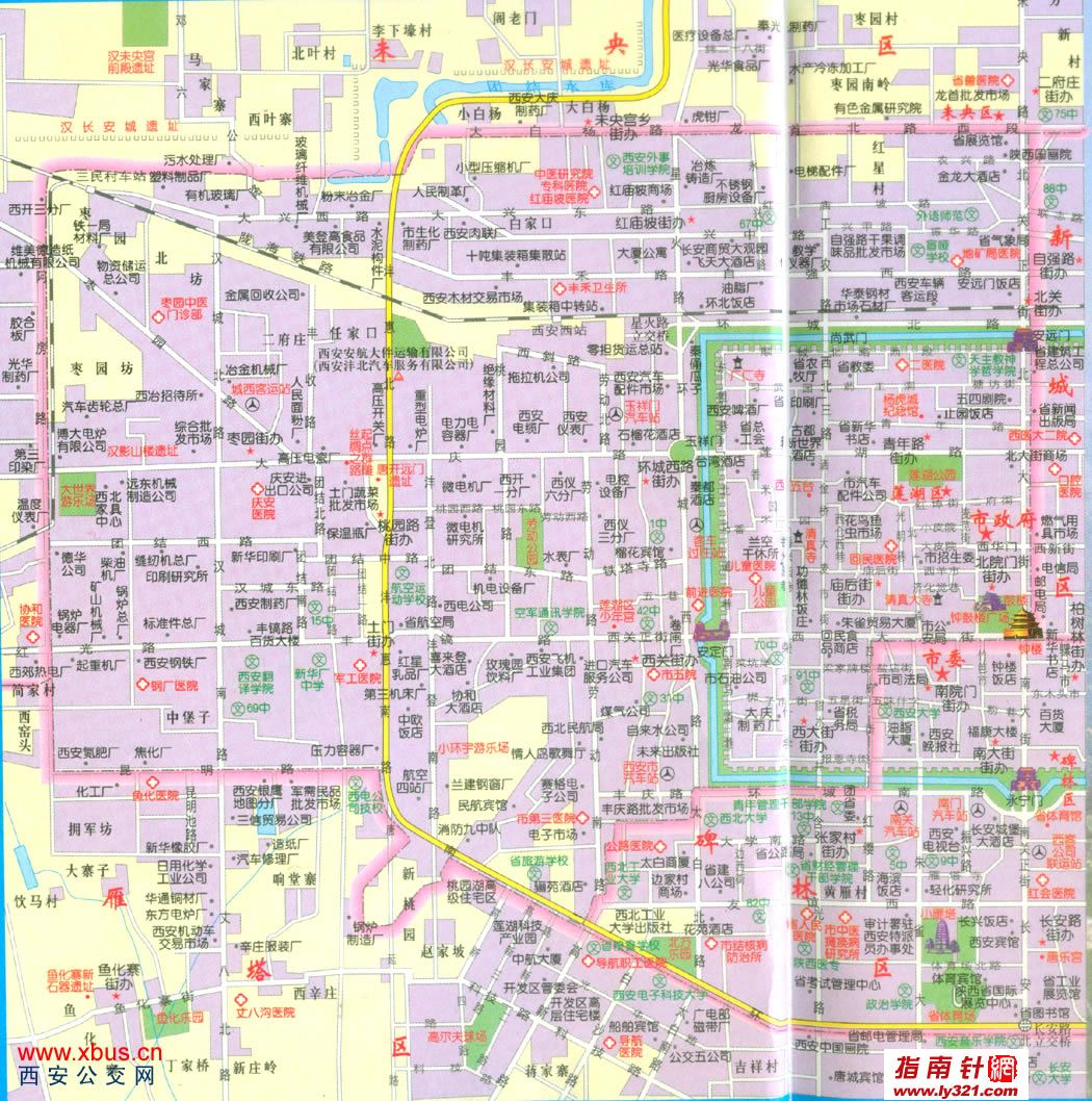 地图 陕西/陕西西安莲湖区交通地图