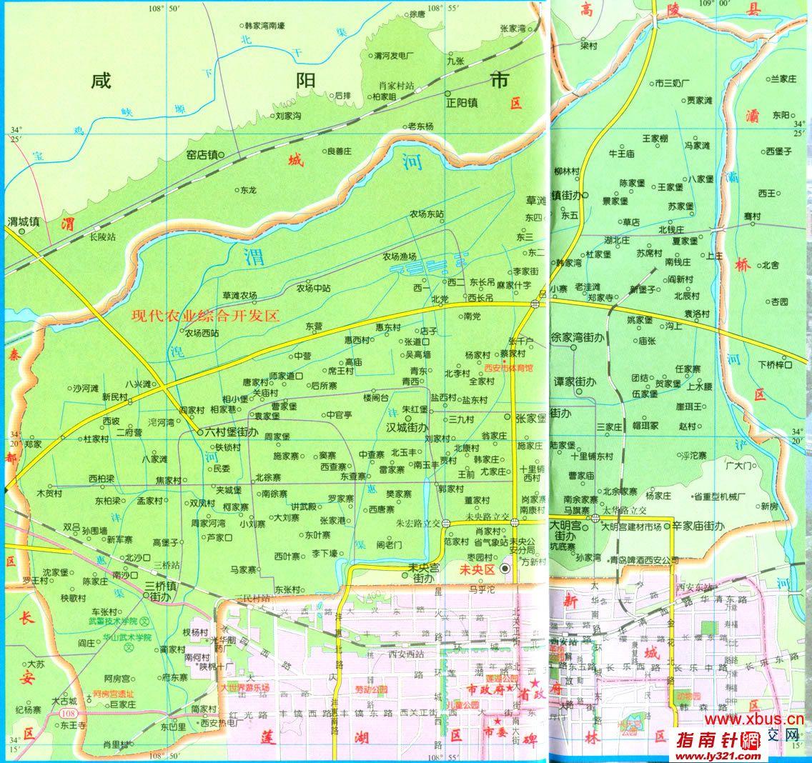 陕西西安未央区交通地图