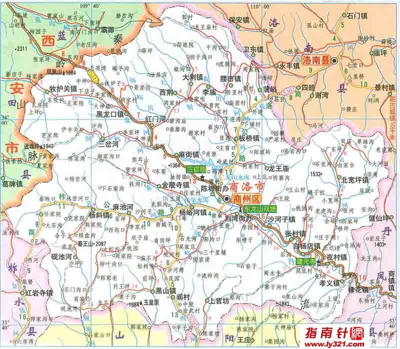 陕西商洛地图_商洛市地图查询