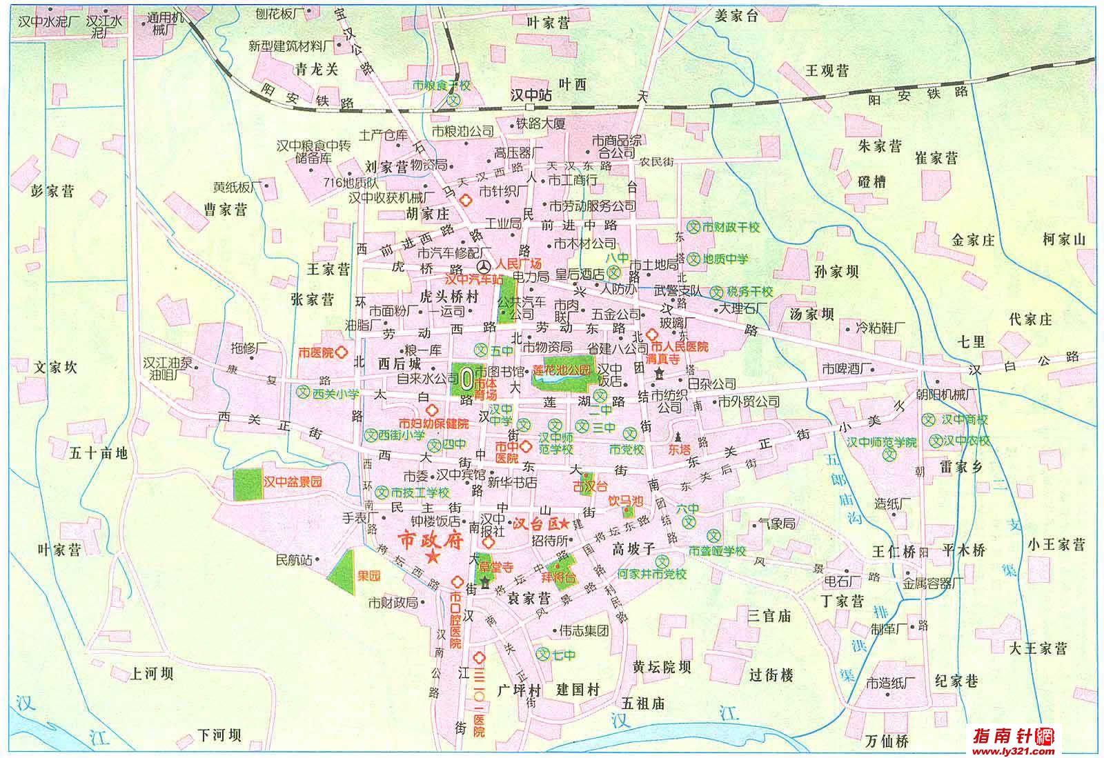 陕西汉中市交通地图