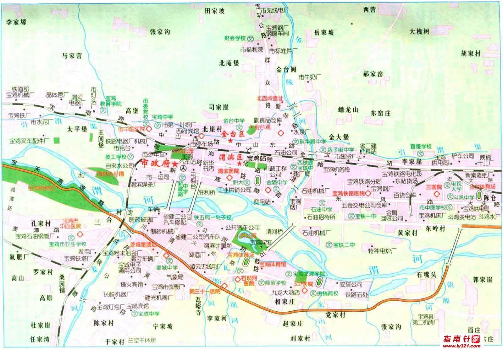 陕西宝鸡市交通地图_宝鸡市地图查询