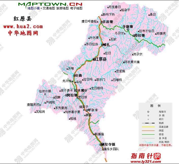 四川红原县政区图_阿坝州地图查询