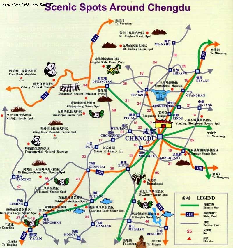 四川旅游交通地图_四川其他旅游景点地图查询