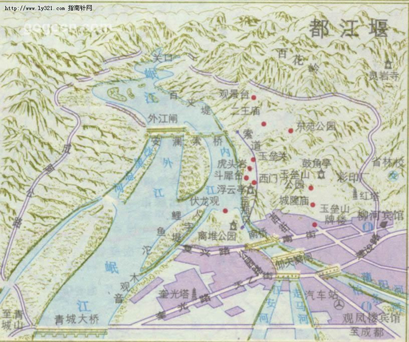 都江堰地图_成都市旅游景点地图查询