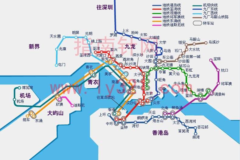 香港地铁图图片