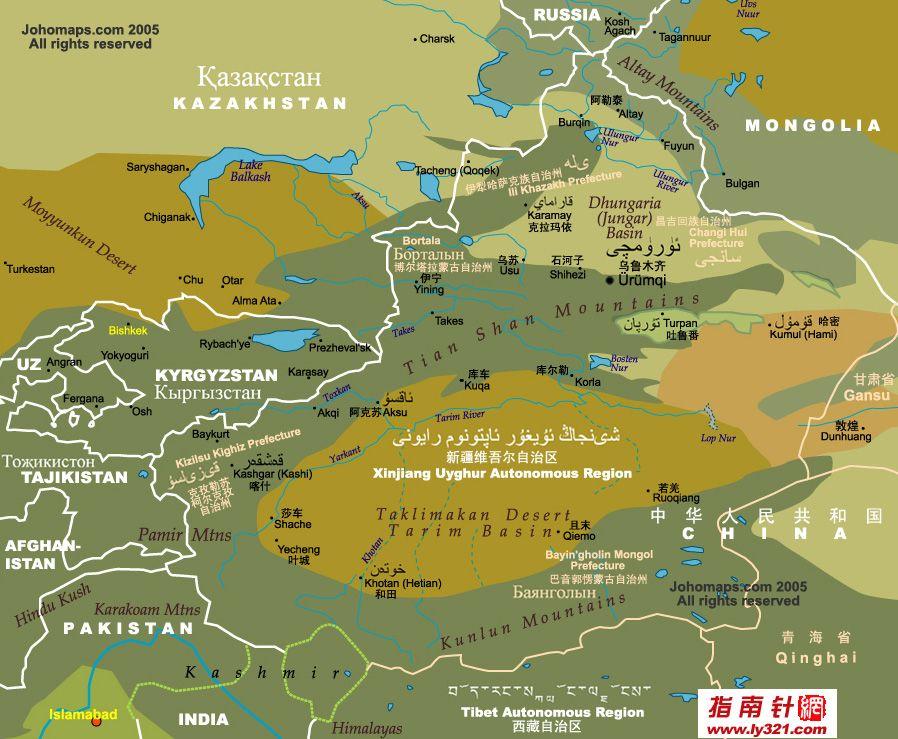 新疆简图(多语版)_新疆地图查询
