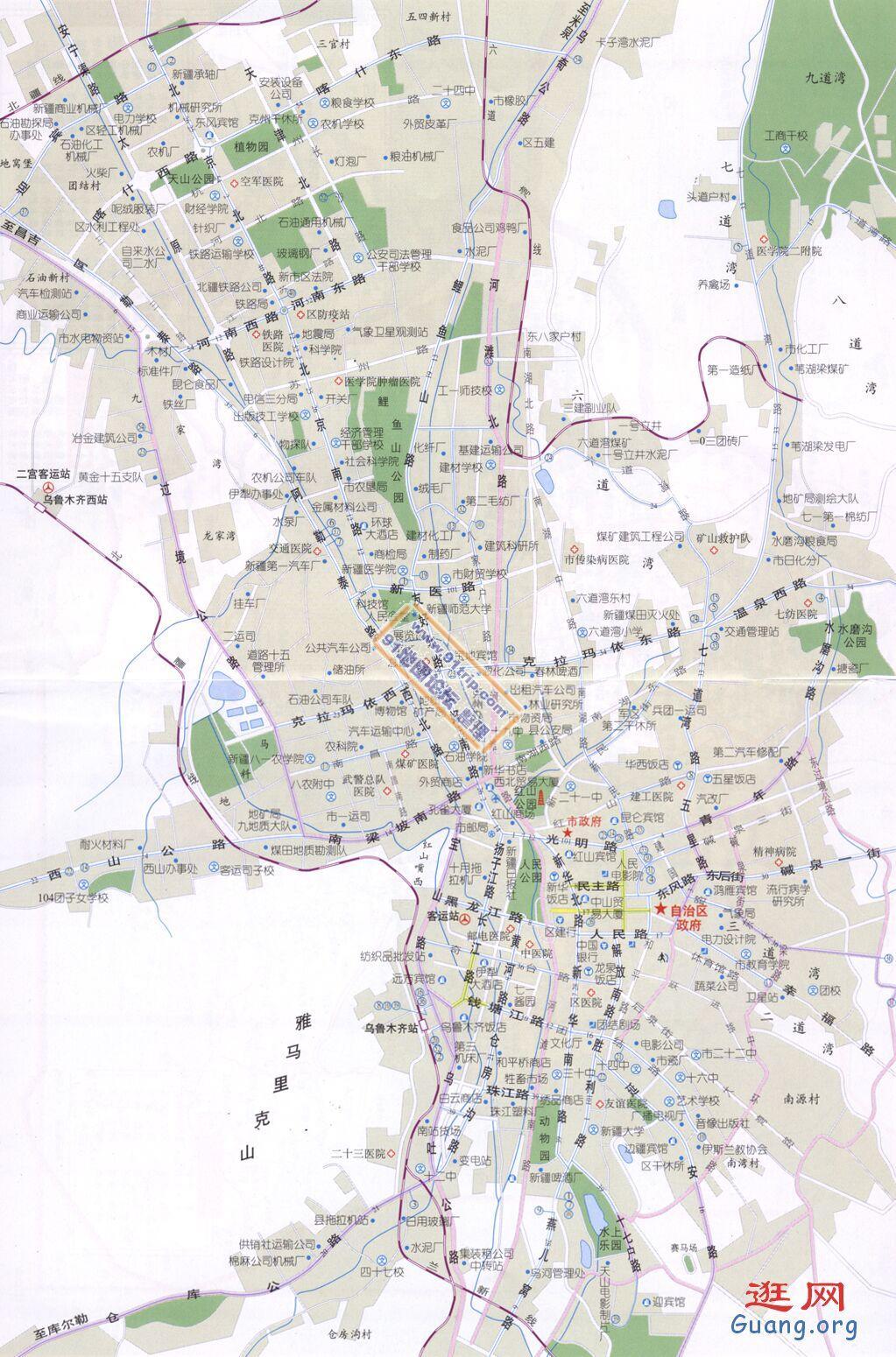 乌鲁木齐地图_乌鲁木齐地图查询