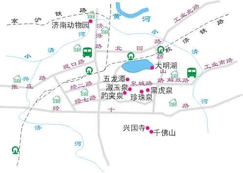 济南旅游地图
