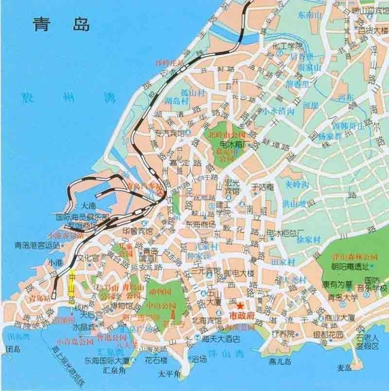 <em>青岛旅游</em>地图_青岛市旅游景点地图查询