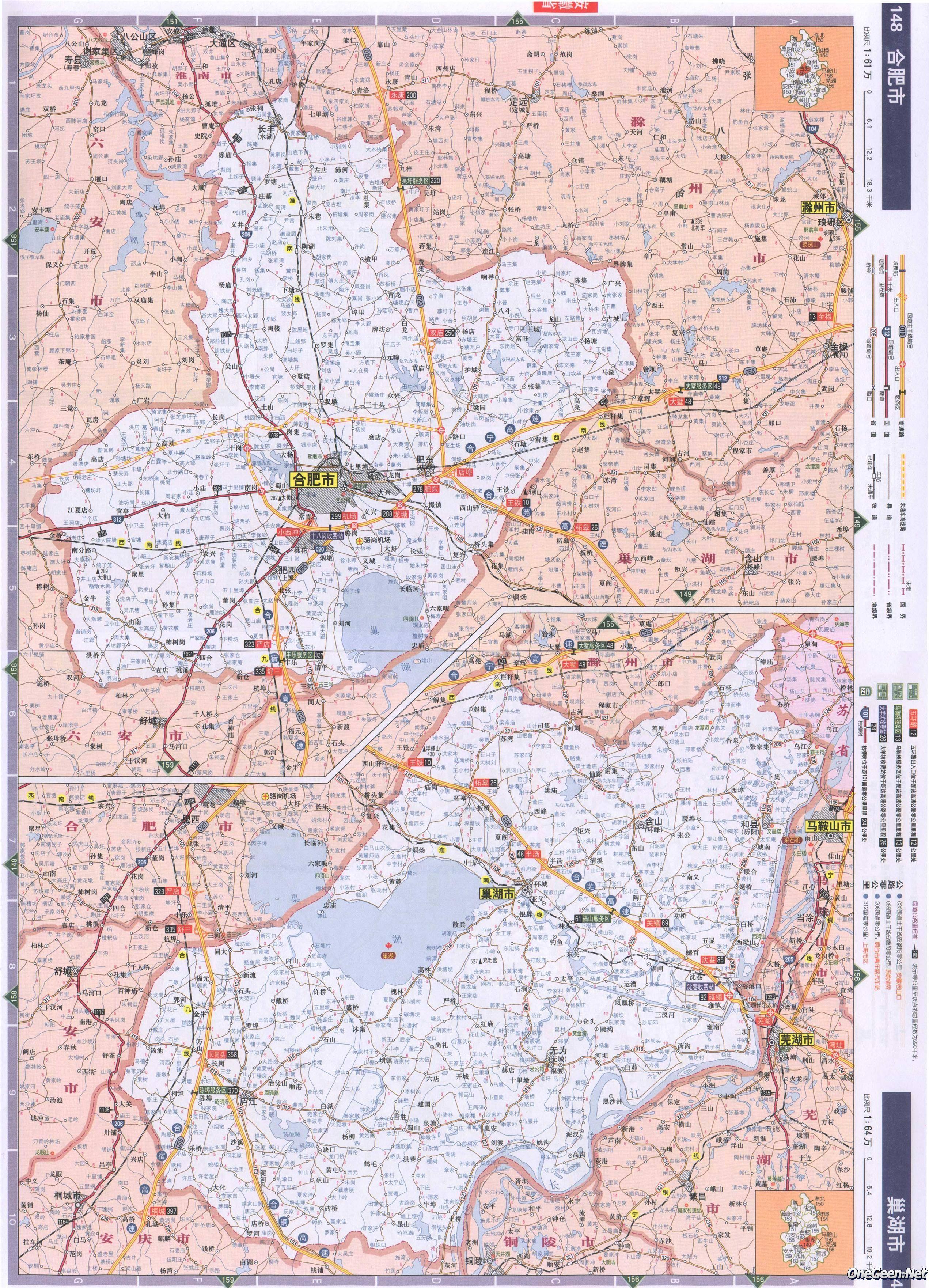 安徽合肥市交通地图全图