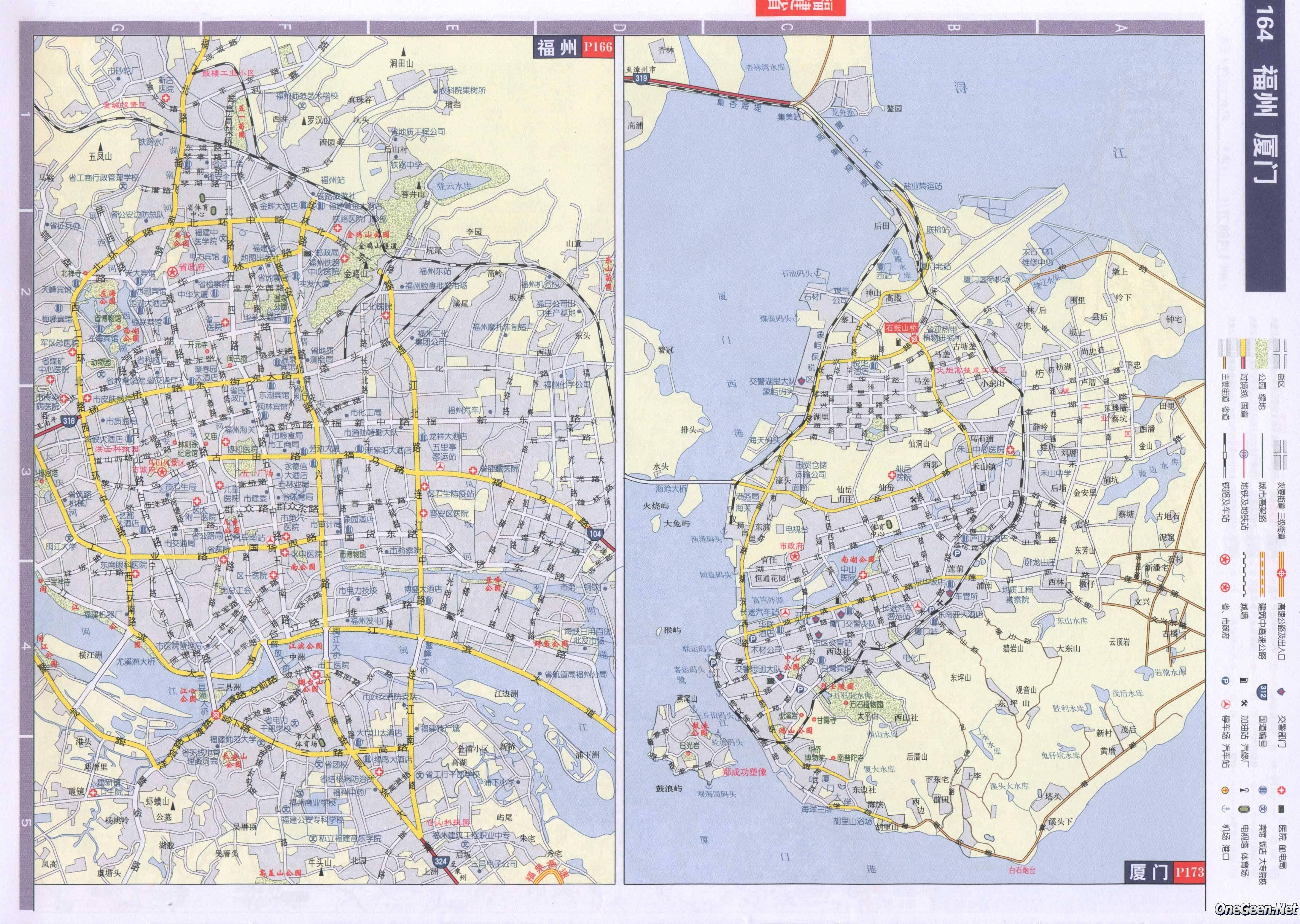 福建福州市区地图_福建省福州市厦门市交通地图_交通地图库_地图窝