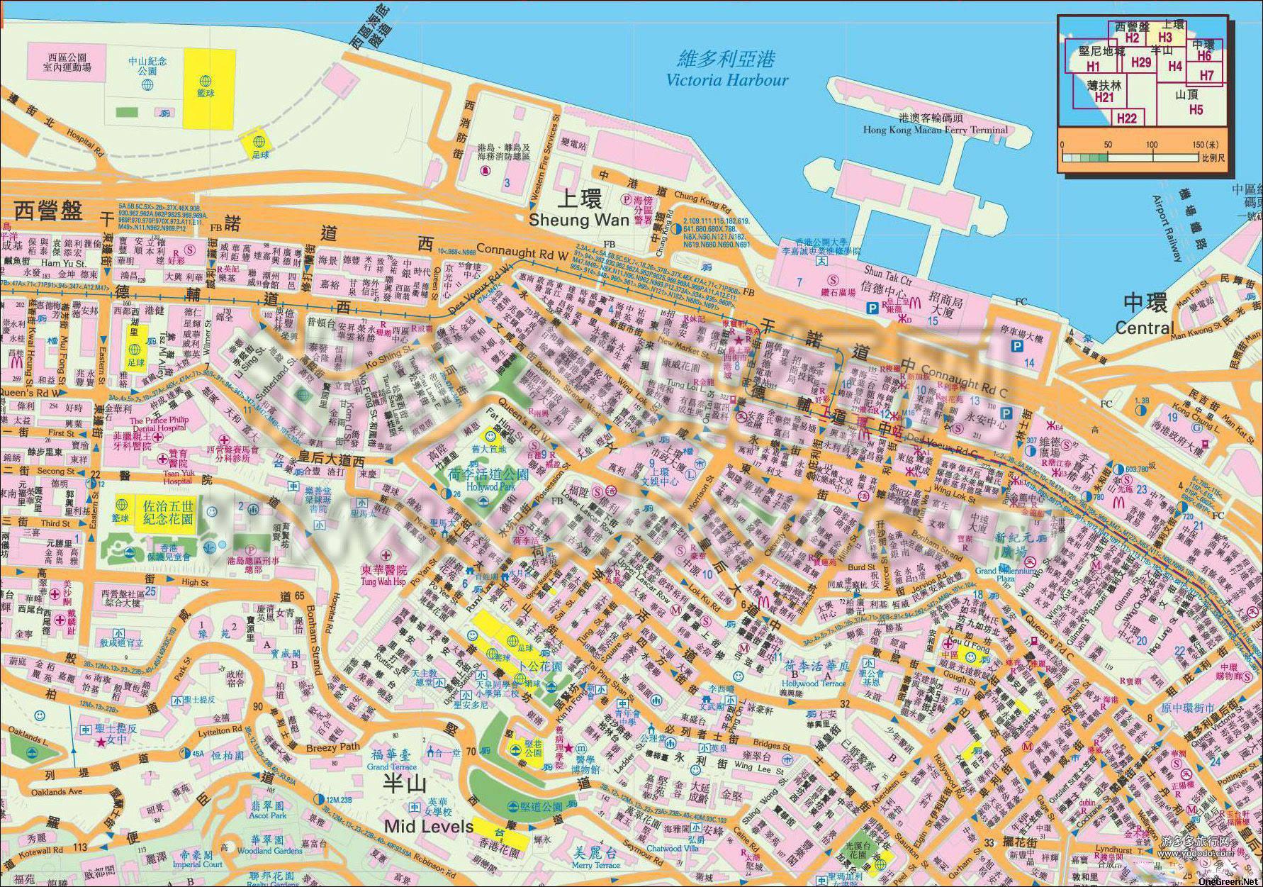 地图 香港/香港中环地图高清版