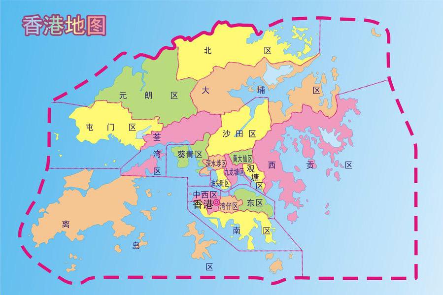 香港行政区域图 香港地图查询