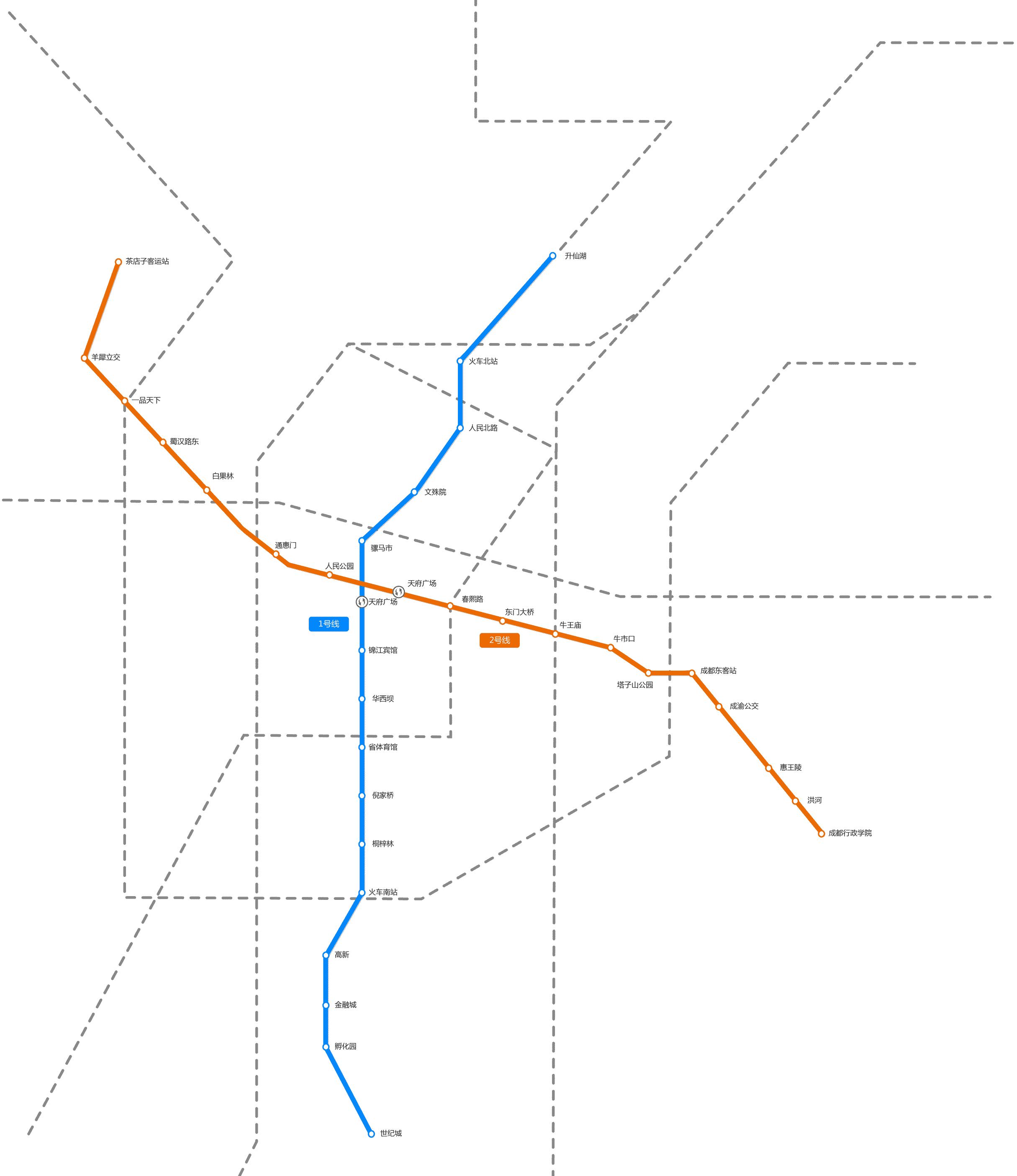 成都地铁线路图 高清图片