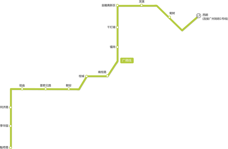 佛山地铁线路图(高清)_交通地图库