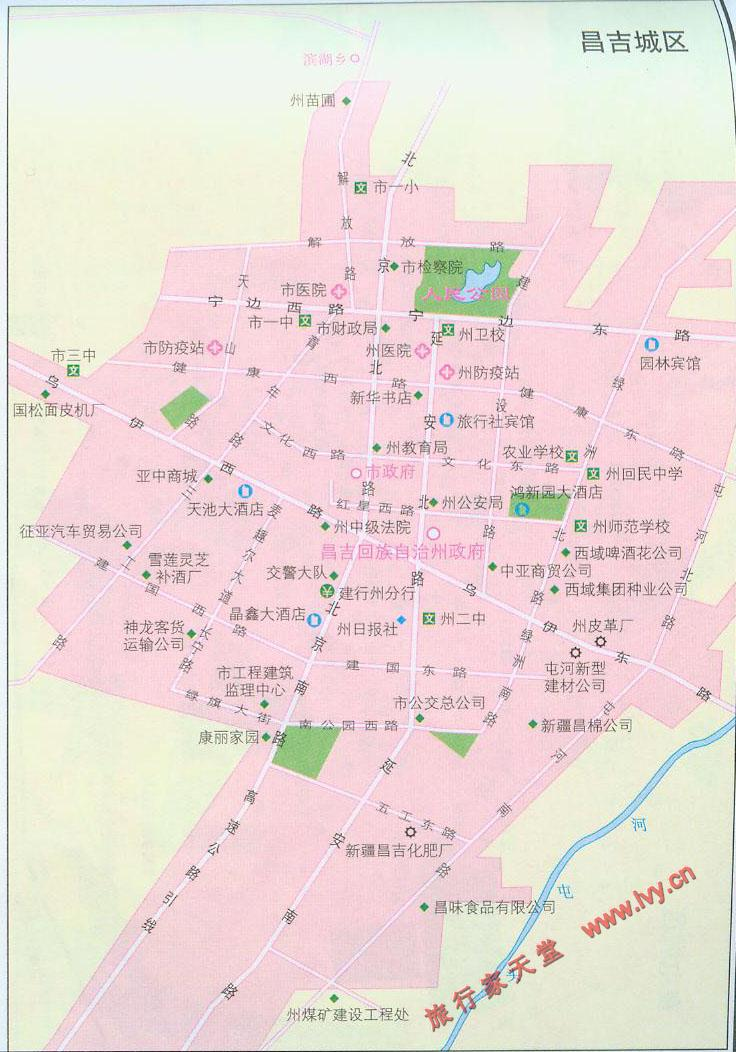 昌吉市市区地图