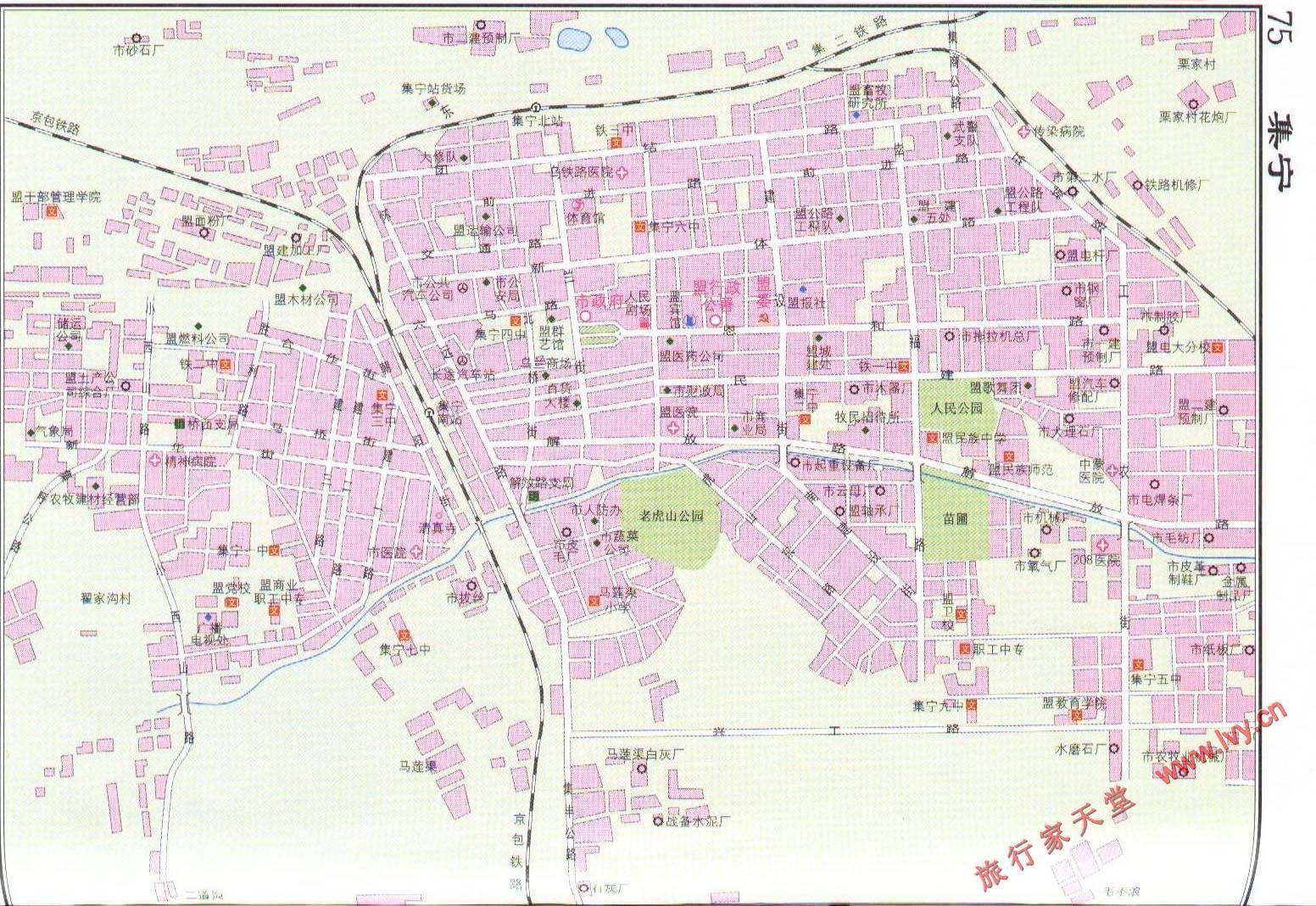 集宁市市区地图