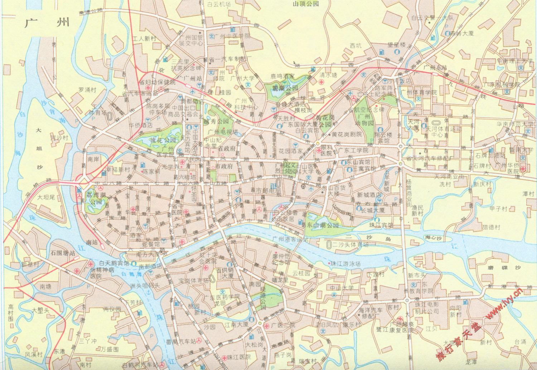 广州市区简易地图