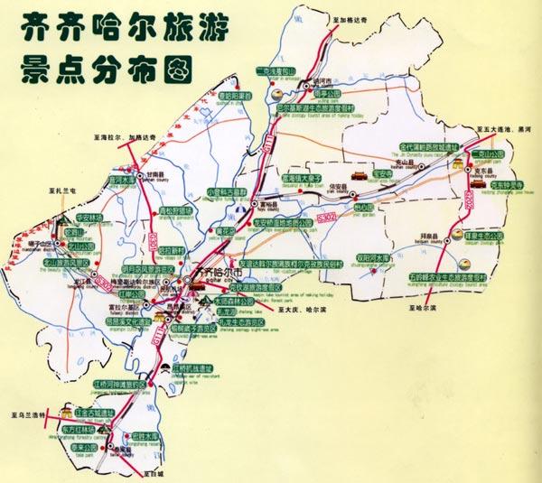 齐齐哈尔导游地图