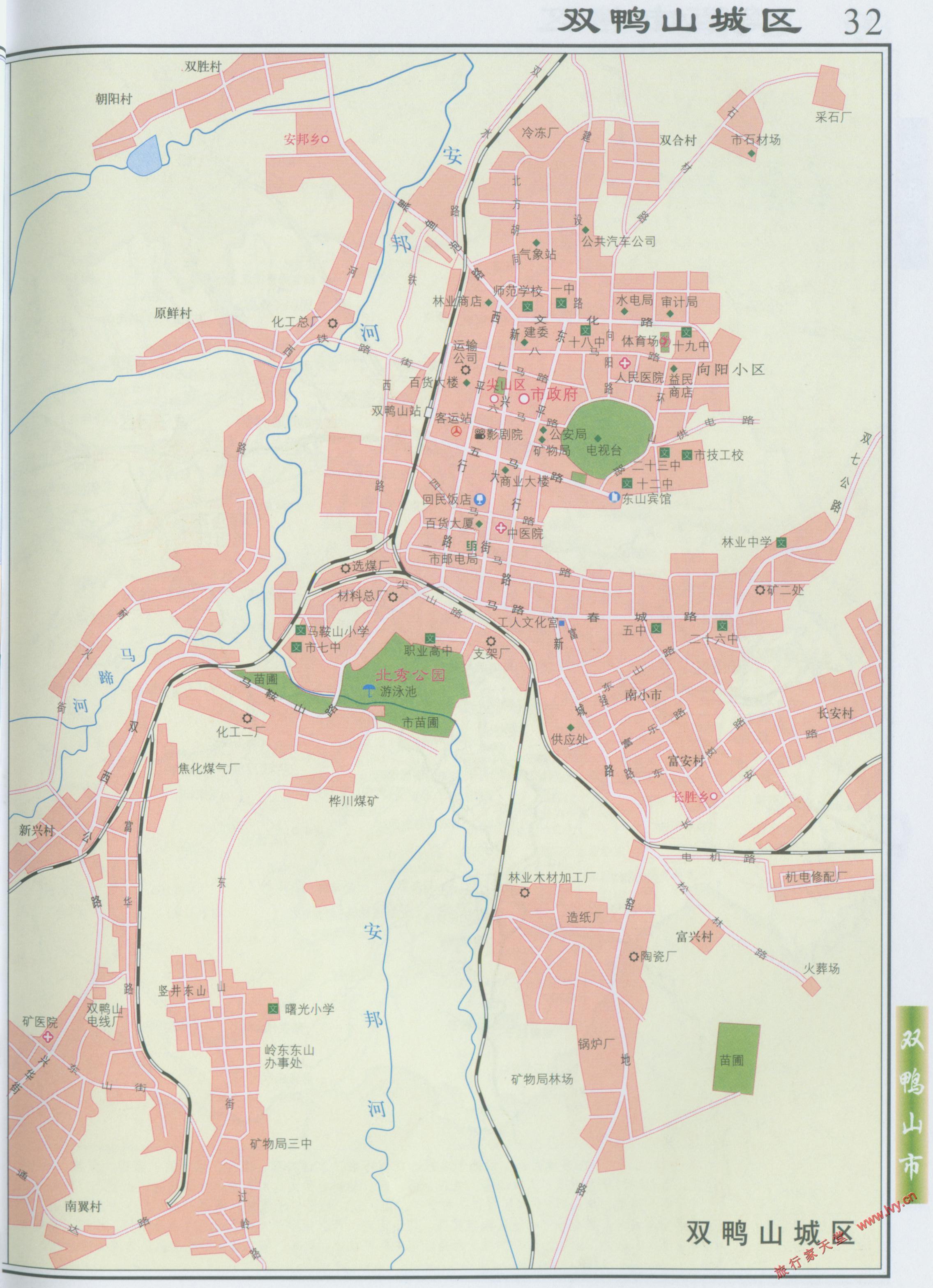 双鸭山市市区地图_双鸭山市地图查询