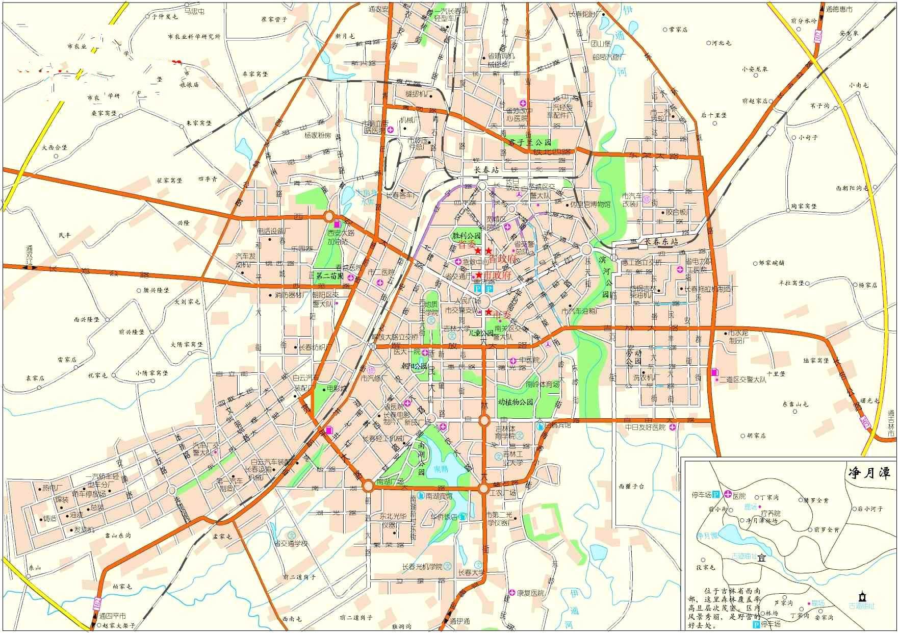 長春市區地圖_長春市地圖查詢