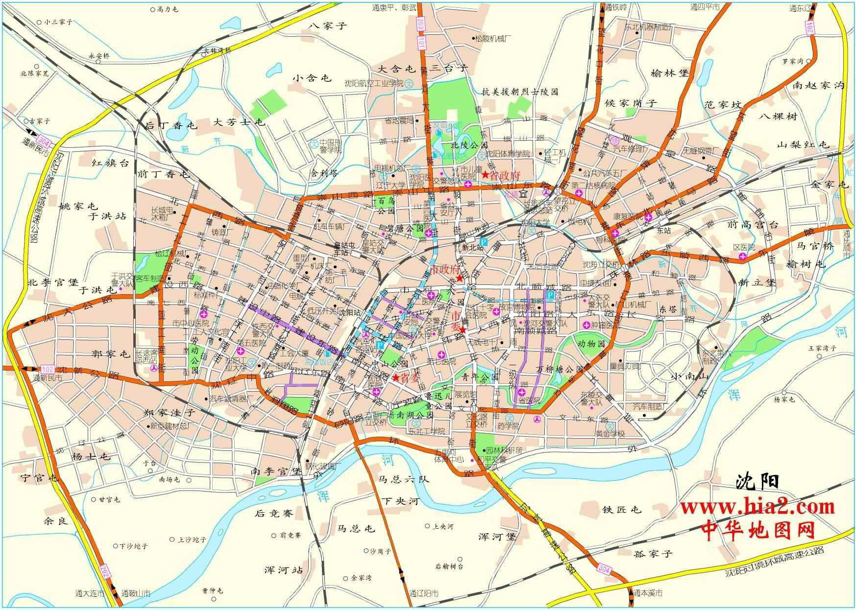 沈阳市区地图