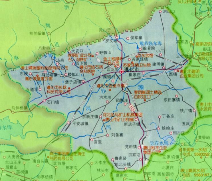 遵化地图_唐山市地图查询