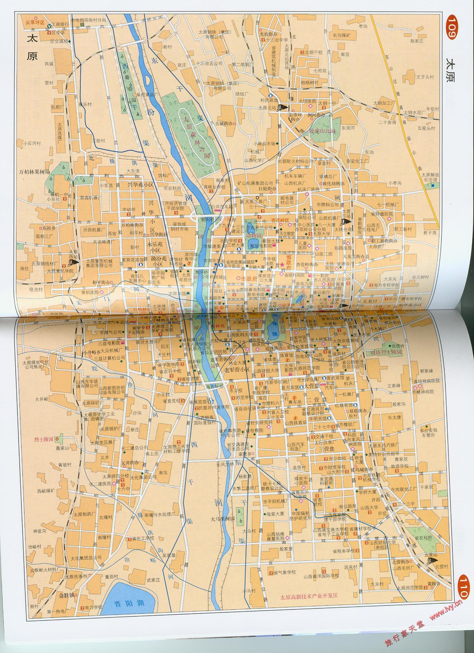 太原市区地图_太原地图库