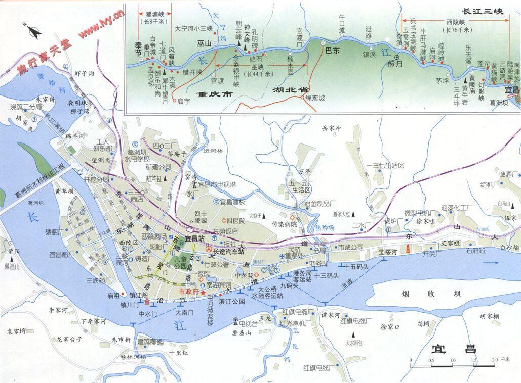 宜昌旅游交通图_宜昌市地图查询