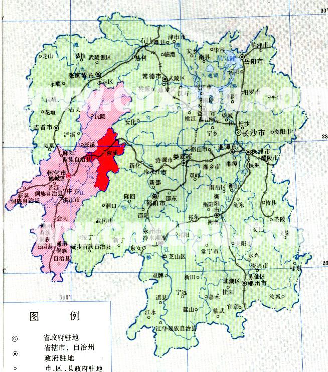 溆浦地图(湖南)._怀化地图库