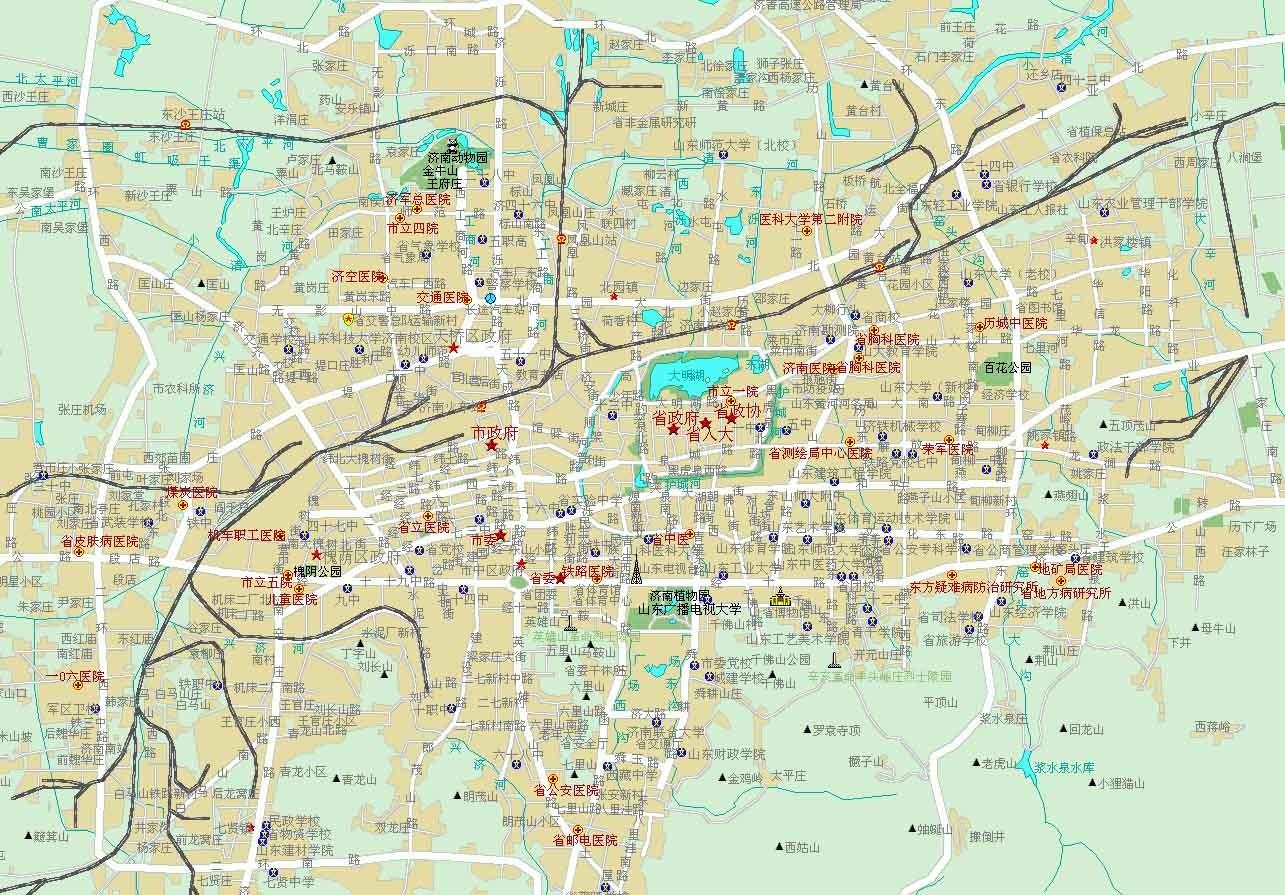 济南市市区地图