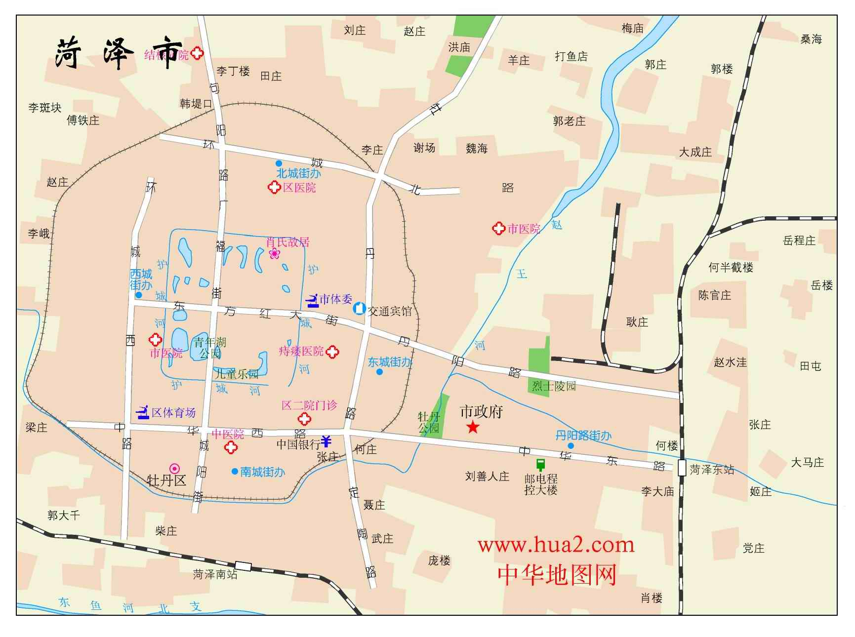 菏泽市市区地图_菏泽地图库