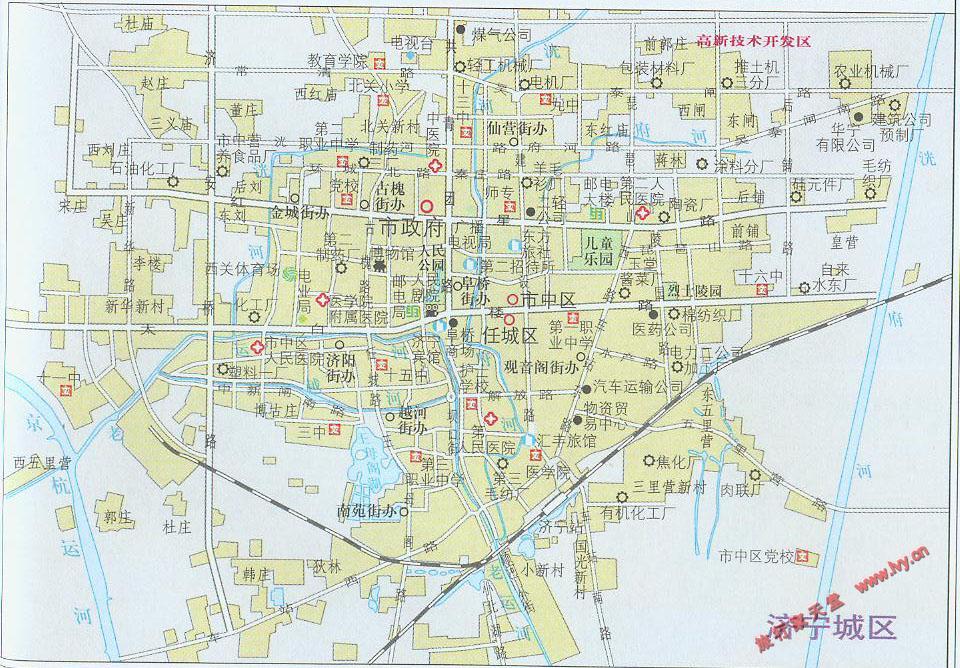 济宁市城区地图