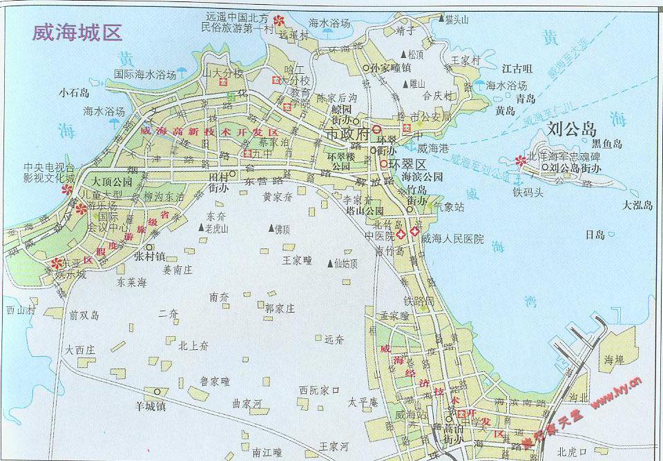 威海市城区地图