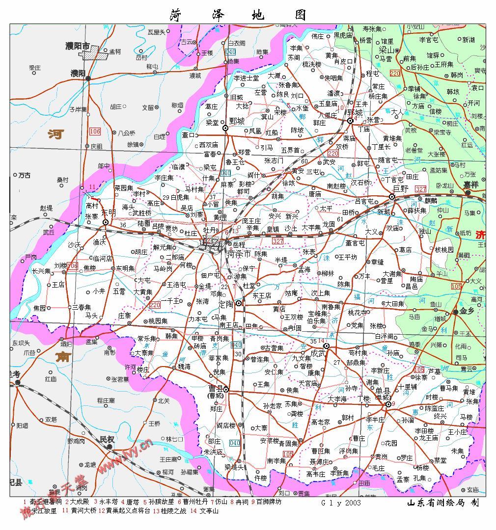 山东地图全图简笔画
