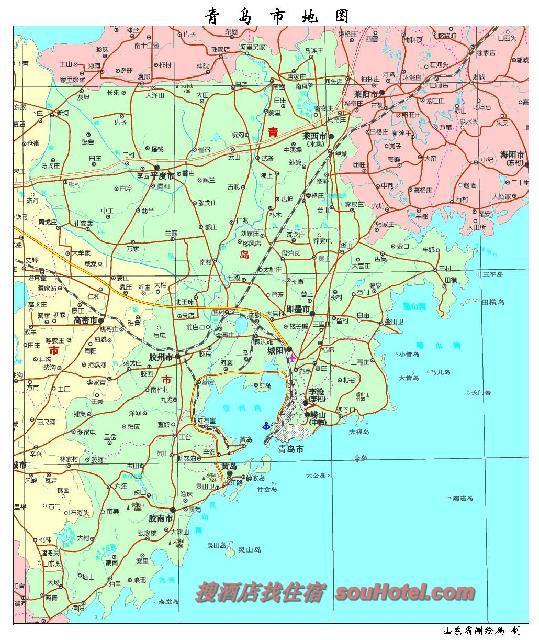 青岛市地域图_青岛市地图查询