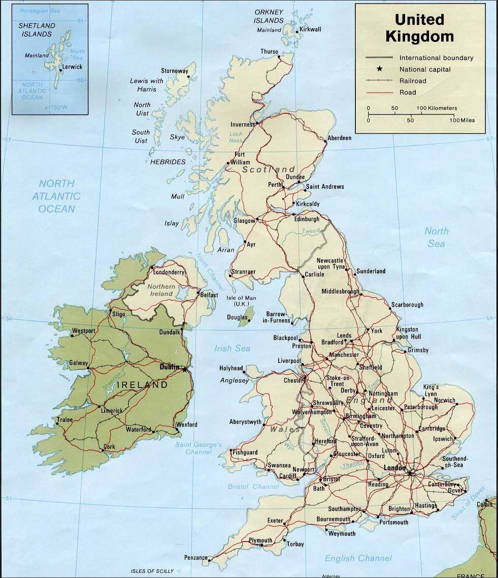 英国地图英文版_英国地图库