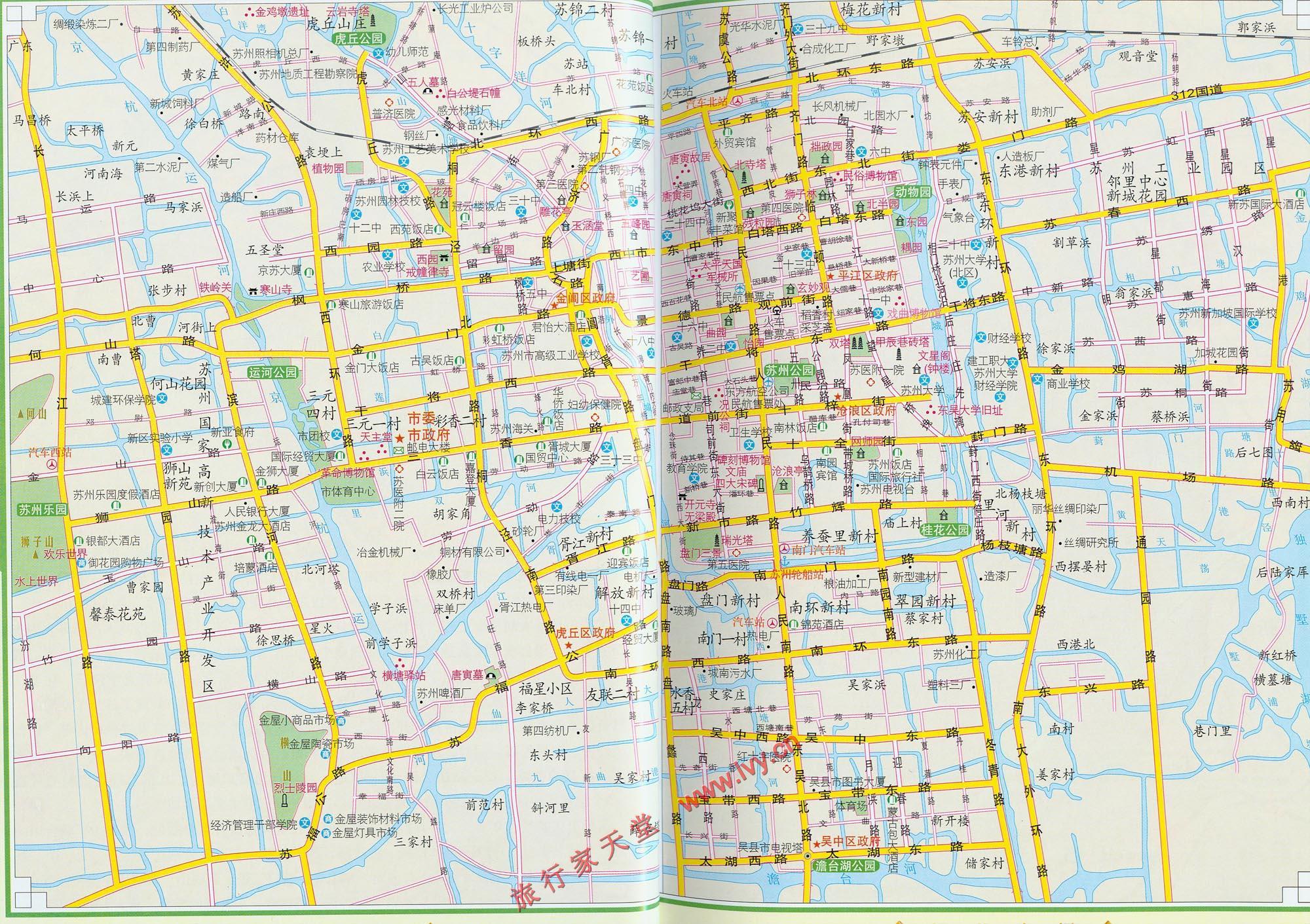 苏州旅游交通图