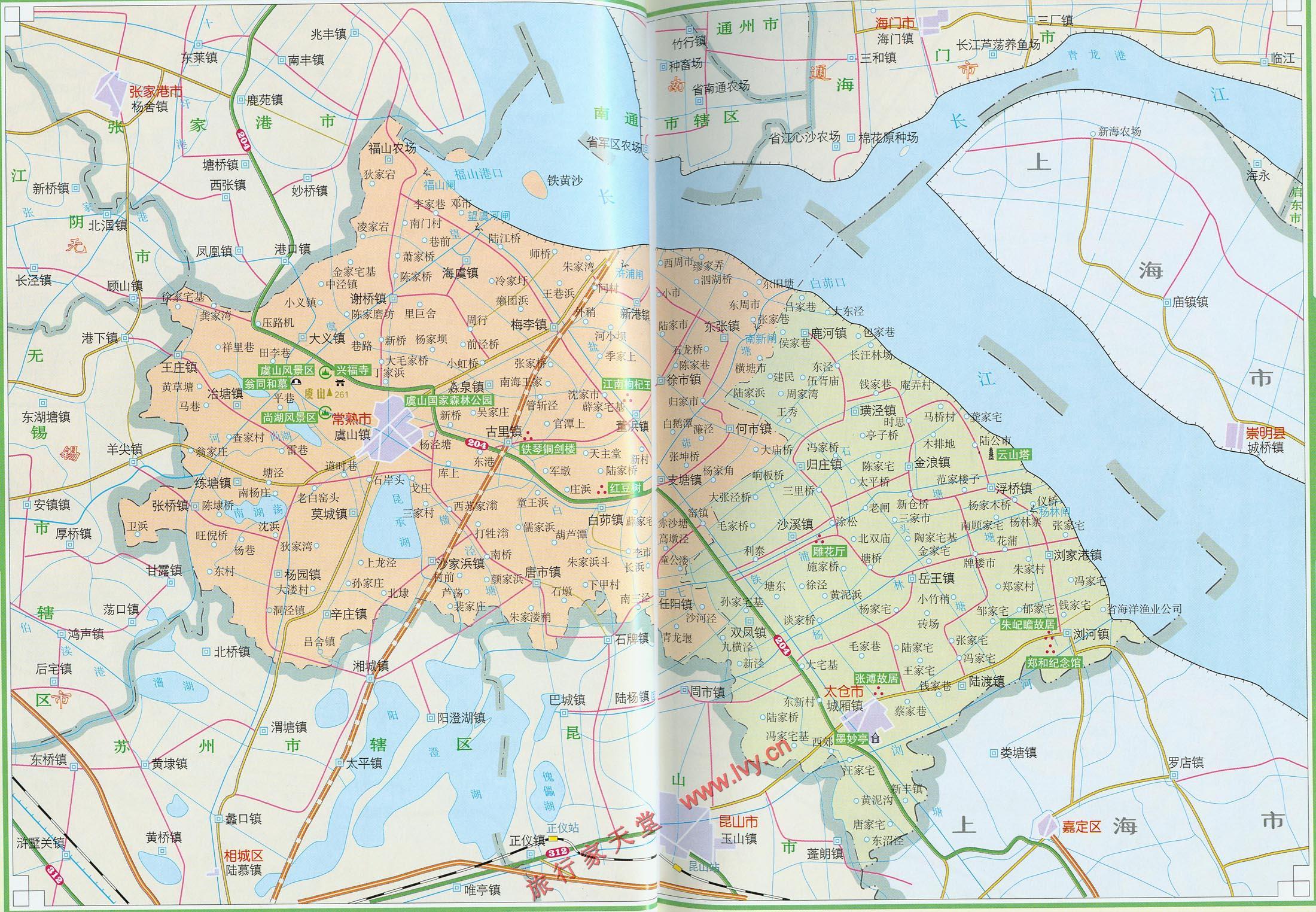 太仓地图行政区划图图片