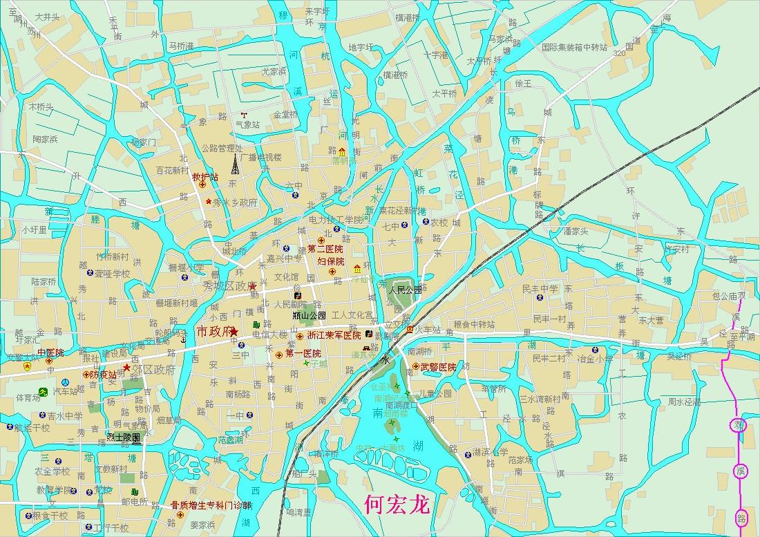 嘉兴市区图