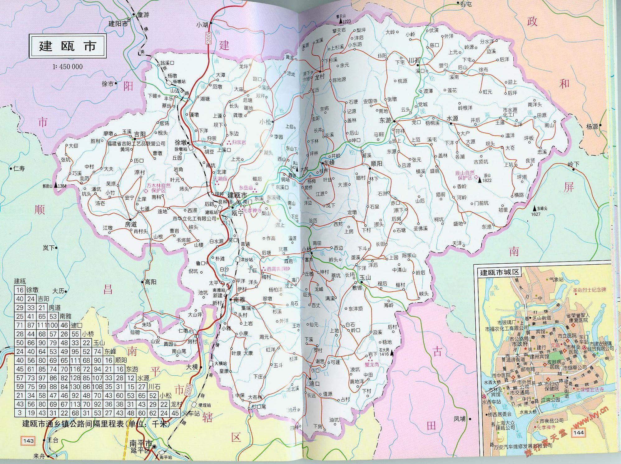 建瓯市交通地图