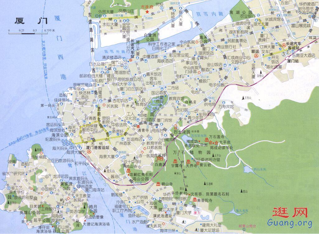 厦门岛内地图_厦门市地图查询