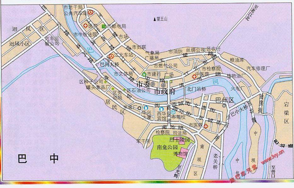 巴中市市区地图