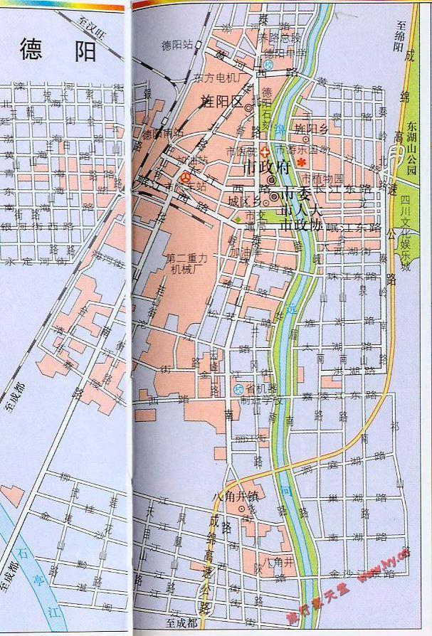 德阳市市区地图_德阳地图库