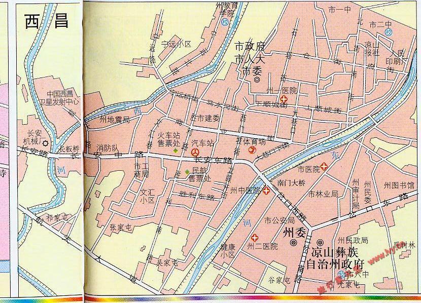 西昌市市区地图